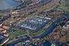 Aerial photo of Kings Marina in Newark.
