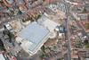An aerial photo of Newark Asda.