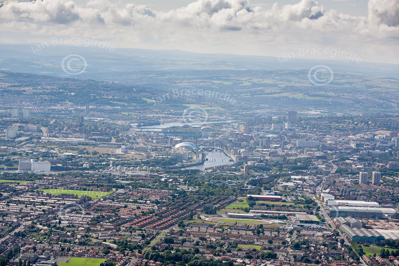 Newcastle from the air.
