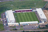 Aerial photo of Sixfields Stadium, Northampton.