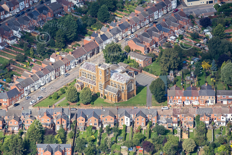 Aerial photo of Cathedral of Our Lady Immaculate & St Thomas of Canterbury.