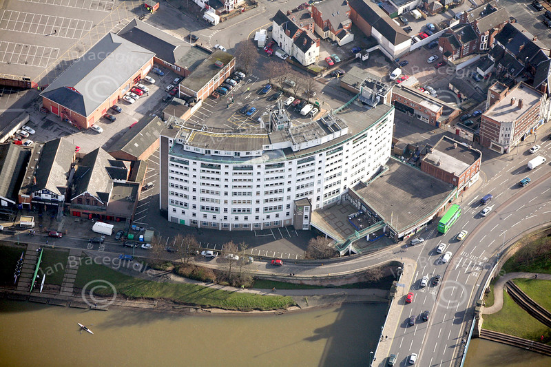 Rushcliffe Council Building in Nottingham from the air.