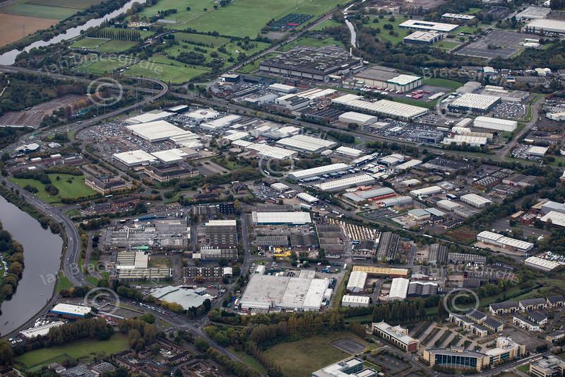 Aerial photo of Lenton Lane Industrial Estate.