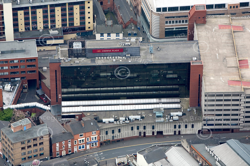 Nottingham Crowne Plaza from the air.