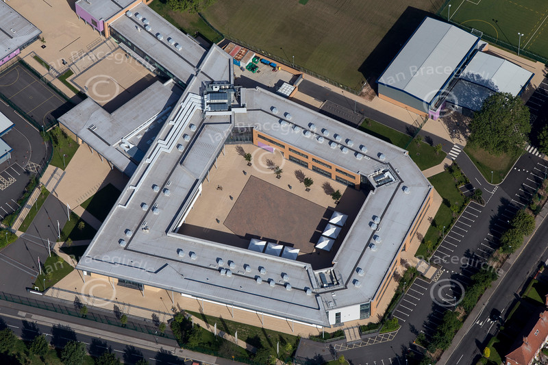 Nottingham Academy from the air.