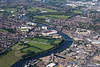 Aerial photo of Nottingham's major sports grounds