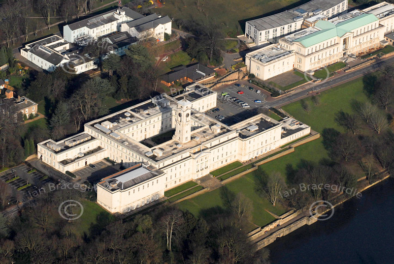 Park Campus in Nottingham from the air.