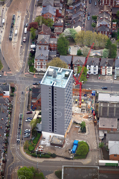 Tower Block on Gregory Boulevard from the air.