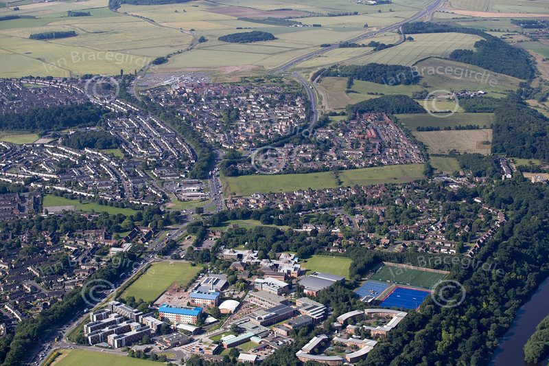 Aerial photo of Nottingham Trent University and Clifton.