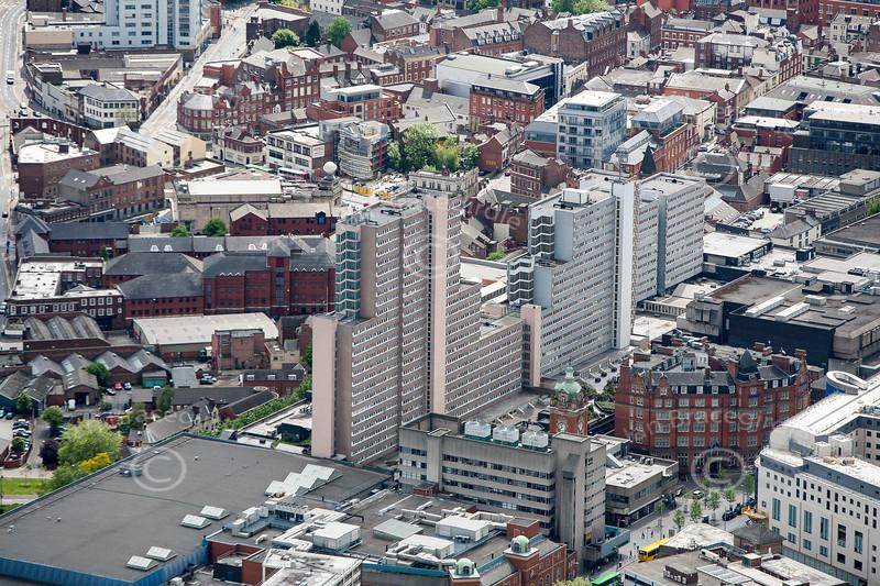 Aerial photo of the Victoria Centre.