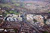 Aerial photo of Queens Medical Centre in Nottingham.