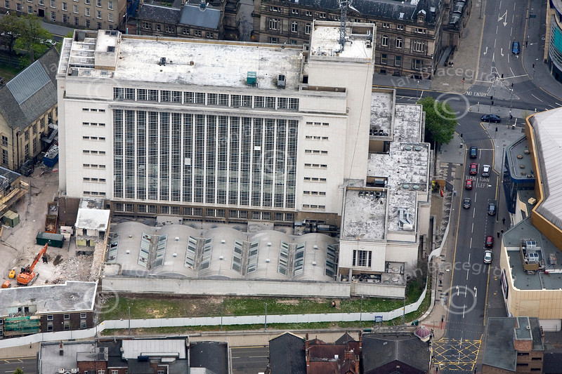 Trent University in Nottingham from the air.