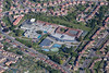 Carlton Arena in Nottingham from the air.
