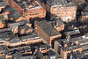 The Lace Market in Nottingham from the air.