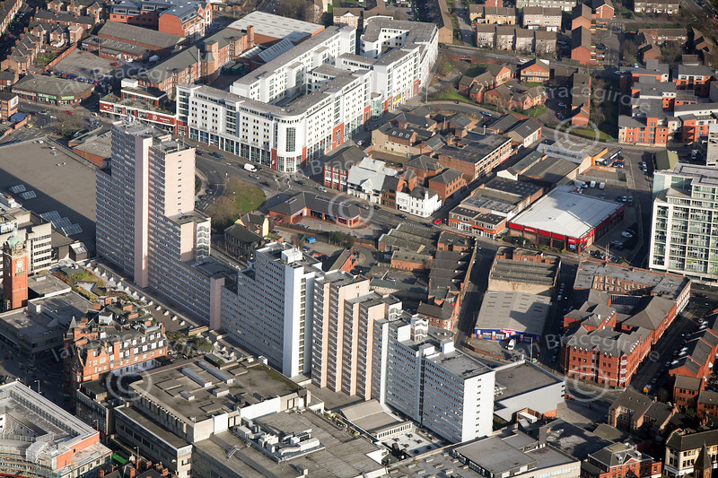 The Victoria Centre in Nottingham from the air.