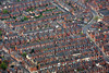 Terrace Houses in Nottingham from the air.
