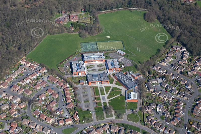 Aerial photo of Oakwood Academy.