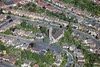 St Mark's Church, Woodthorpe in Nottingham from the air.