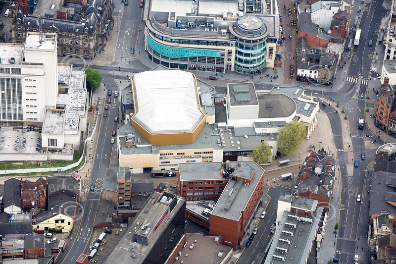 Theatre Royal in Nottingham from the air.