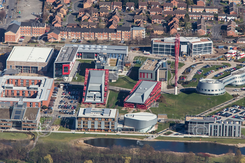 Aerial photo of The University of Nottingham Jubilee Campus.