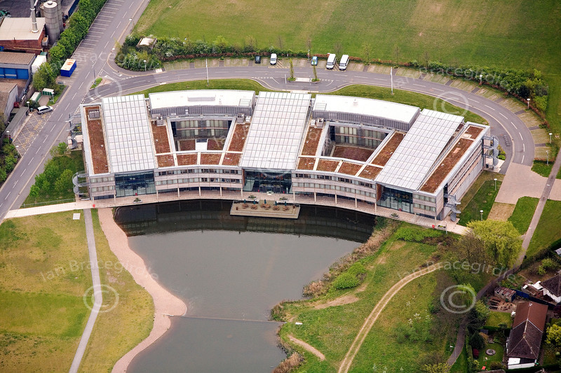 Jubilee Campus of Nottingham University from the air.