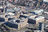 Aerial photo of The Queens Medical Centre, a hospital in Nottingham.