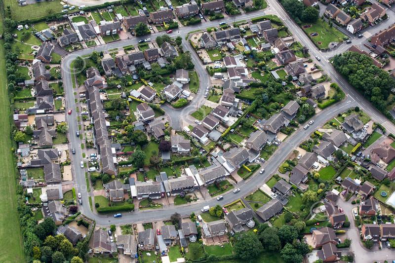 Aerial photo of Oakham.