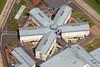 Aerial photo of Peterborough Prison.