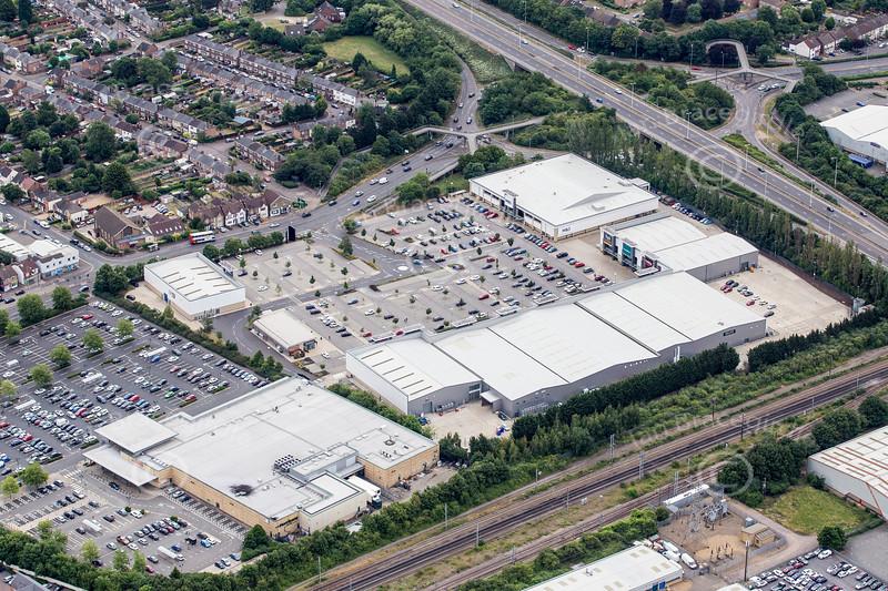 Aerial photo of Brotherhood retail Park.
