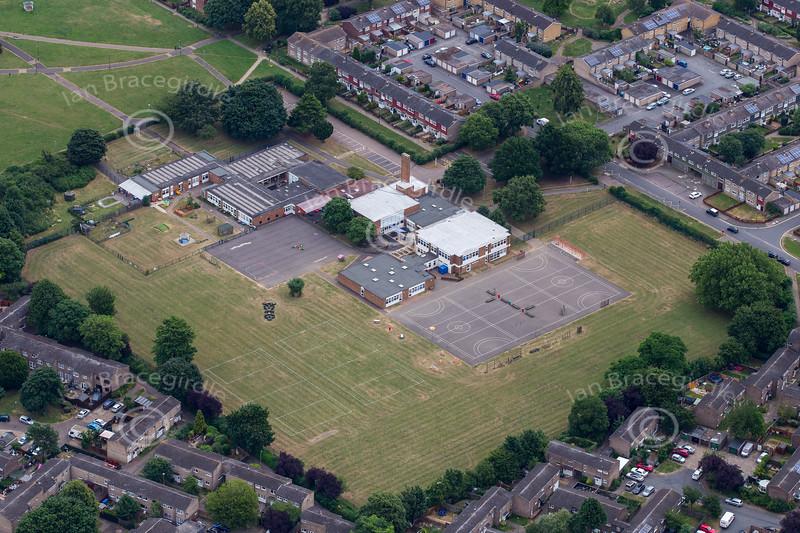 Aerial photo of Westwood Primary School.
