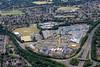 Aerial photo of Peterborough City Hospital.