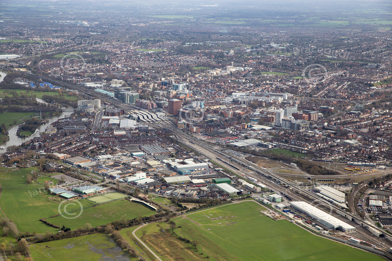 Aerial photo of Reading.