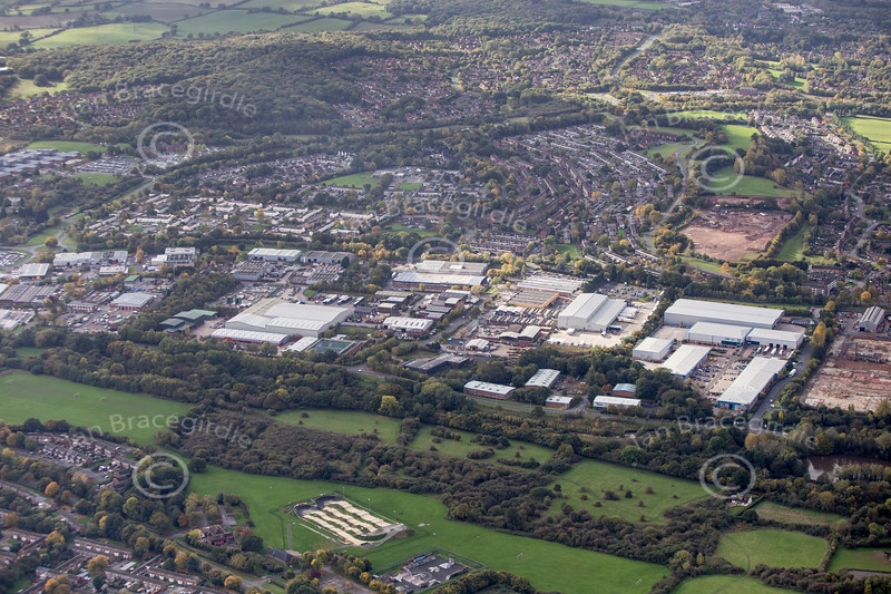 Redditch from the air.