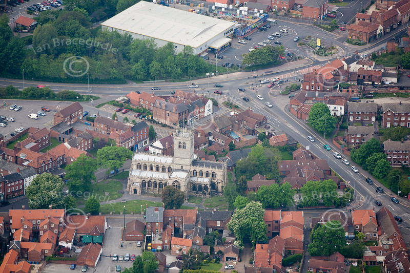 Retford in Nottinghamshire from the air.
