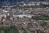Royal Leamington Spa from the air.