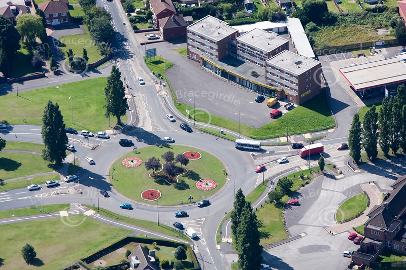 An aerial photo of Scunthorpe.