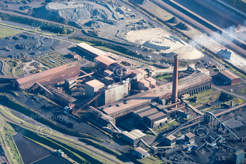Aerial photo of Scunthorpe Steel works.