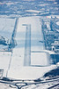 Aerial photo of Sheffield Airport.