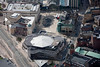 Aerial photo of The Crucible Theatre, Sheffield.