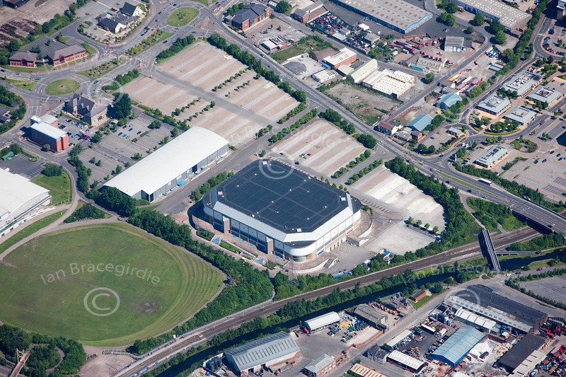 Sheffield Arena from the air.