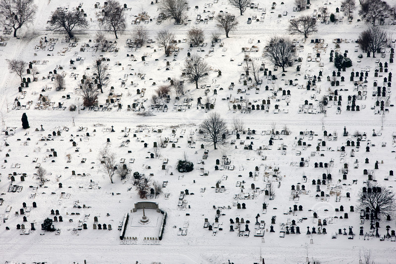 Aerial photo of Burngreave Cemetary.