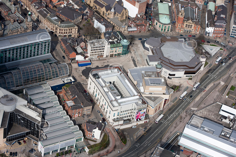 Aerial photo of Sheffield.