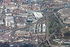 Aerial photo of Sheffield in the UK.