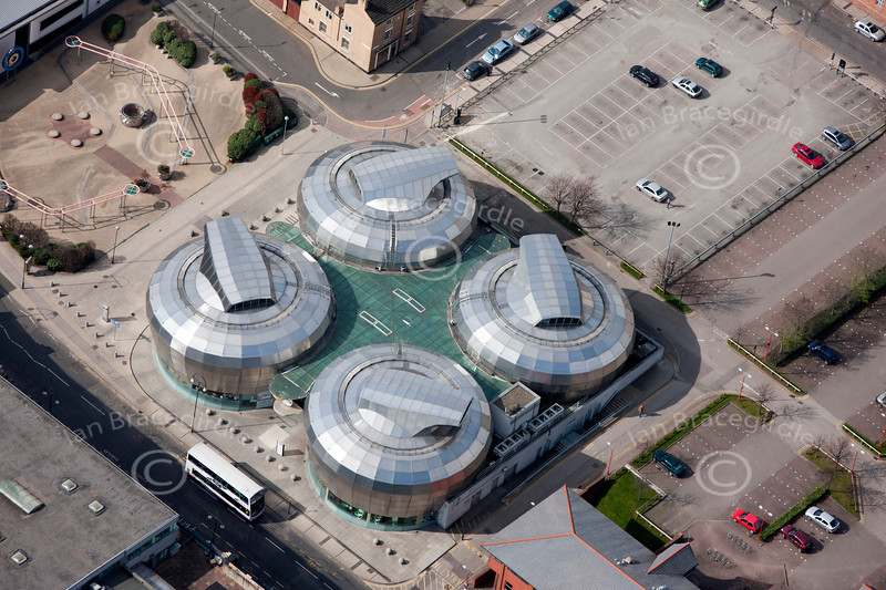 Aerial photo of The Hubs, Sheffield