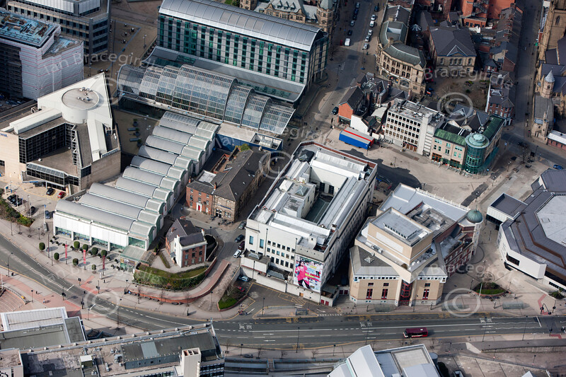 Aerial photo of The Lyceum Theatre, Sheffield.
