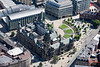 Aerial photo of Sheffield Town Hall.
