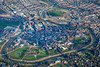 Aerial photos of Shrewsbury on the River Severn in Shropshire.