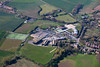 Aerial photo of Minster School and Southwell Leisure Centre.