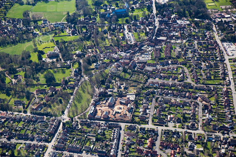 Aerial photo of Southwell.