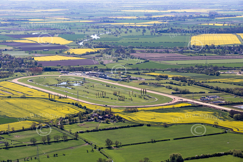 Aerial photo of Southwell Racecourse-100